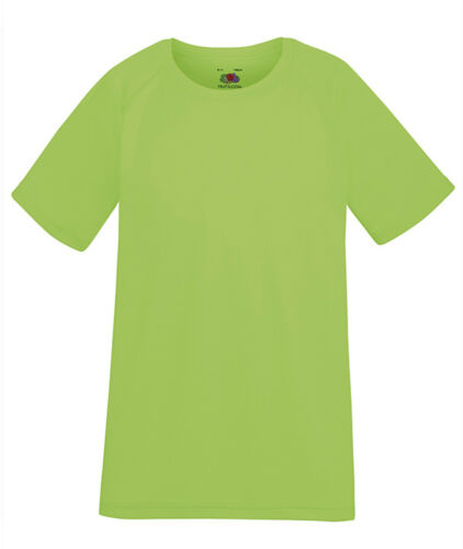 T-shirt PERFORMANCE da Bambini FRUIT OF THE LOOM Poliestere a Manica Corta Sport