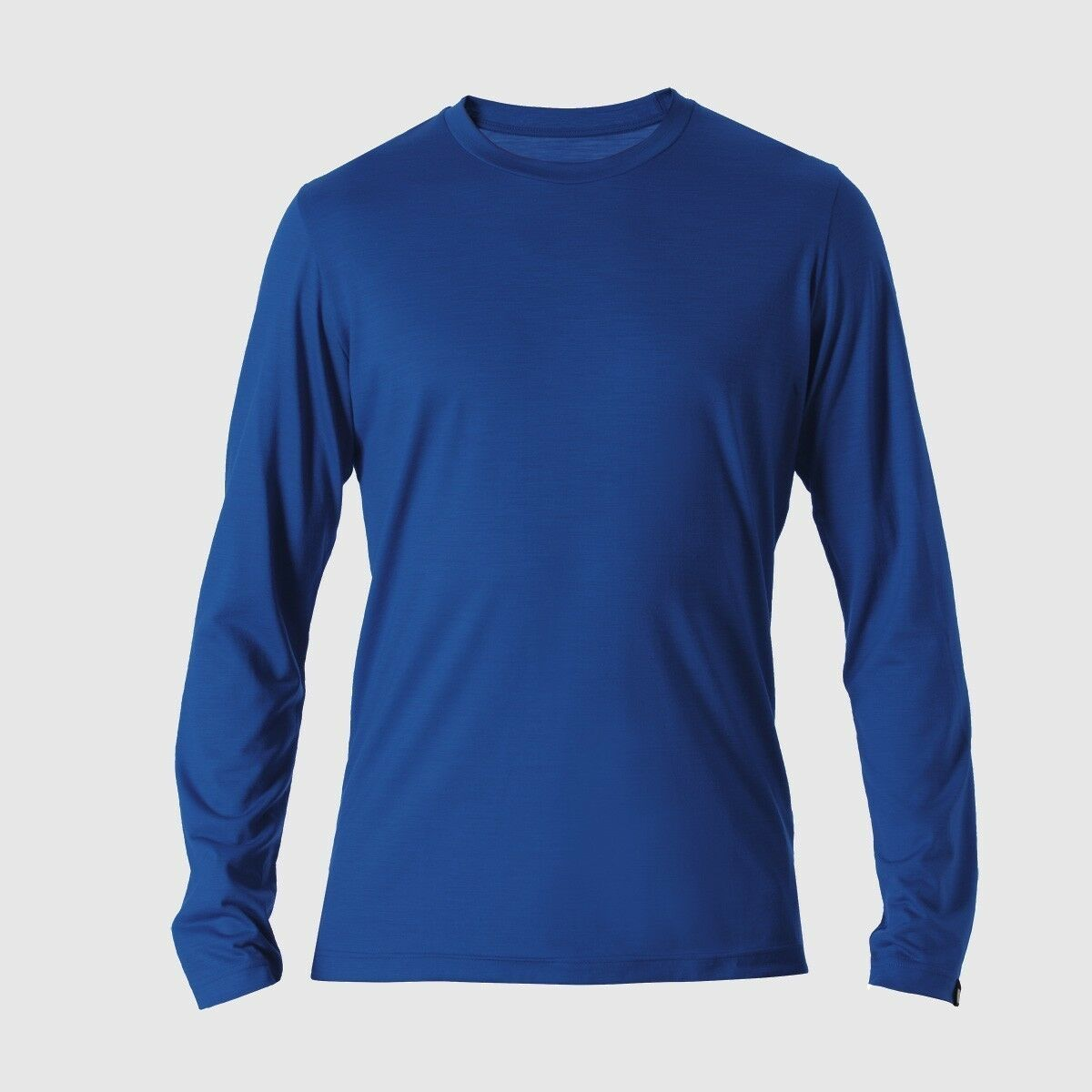 rotA Rewoolution Grab  Mens T Shirt Long Sleeve 140  process Blau  Merinowolle