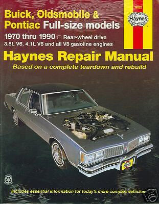 70 71 72 73 74 80 81 FULL SIZE PONTIAC//OLDS SHOP MANUAL