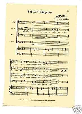 PI LAMBDA PHI fraternity song Vtg JOLLY LADDIES c41