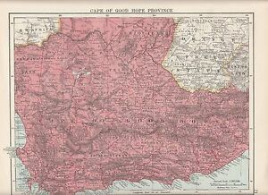 Details about 1923 MAP ~ CAPE OF GOOD HOPE PROVINCE ~ SOUTH AFRICA