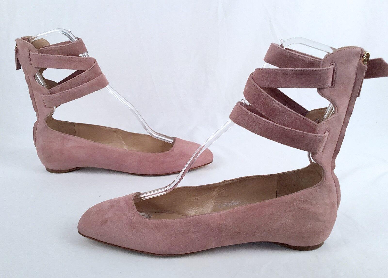 Valentino Suede Ankle Wrap Ballerina Flats --Dimensione US  10   40EU  945 (P8)  marche online vendita a basso costo