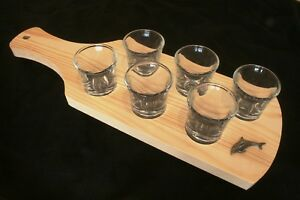 Dolphin S Set Of Six Shot Glasses In Wooden Tray Sealife Gift JP3ewEm0-09093321-673710216