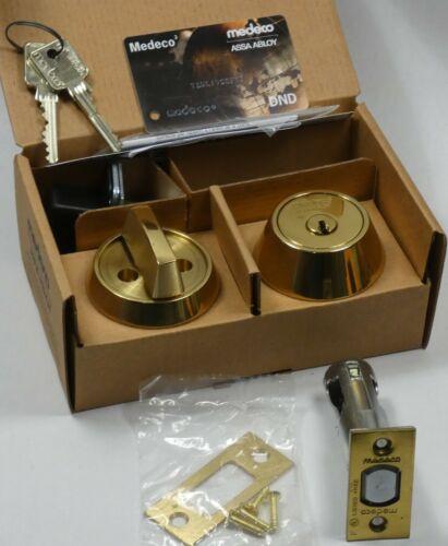 """Bright Brass 2-3//8/""""BS Medeco Commercial 11JC50103 DL BiLevel Single Deadbolt"""