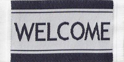 1:12 Small Woven Blue Welcome Mat Dolls House Miniature Door Carpet Accessory