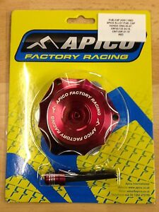 HONDA CRF 50 70 110 125   2004-2016  APICO ALLOY FUEL PETROL CAP & VENT PIPE RED