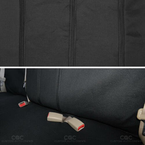 Full Set Black and Red Cloth Car Seat Covers Split Option Bench