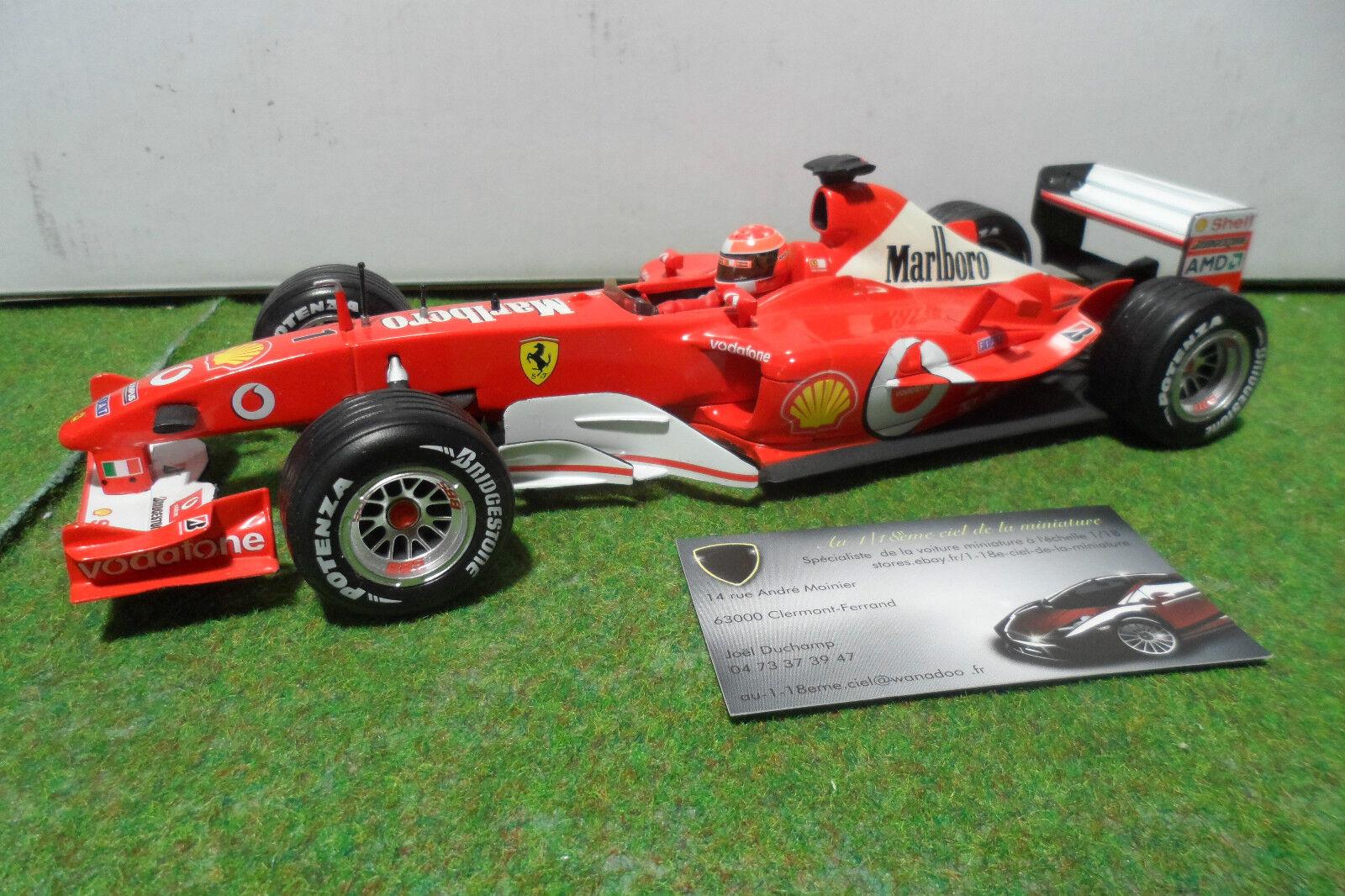 F1  FERRARI F2003 GA M. SCHUMACHER SPONSOR MARLBoro au 1 18 HOT WHEELS formule 1