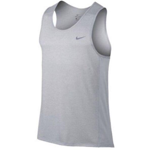 2 Paia Nike Da Uomo Corsa Drifit Canotta Breathe Aj4530-100 Taglia S Bianco