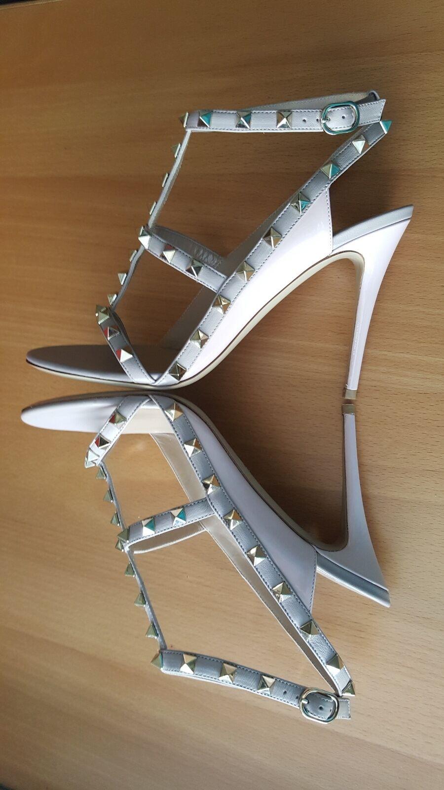 Valentino NIB 1095 rockstud caged color block shoes