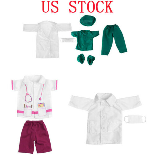 US Baby Doll Doctor Nurse Clothes Outfit Set Fits 18 Inches Our Generation Dolls