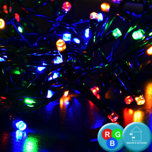Détails sur RGB LED Extérieur Domaine Lumières Chaîne Noël Déco Arbre  Terrasse Lampe