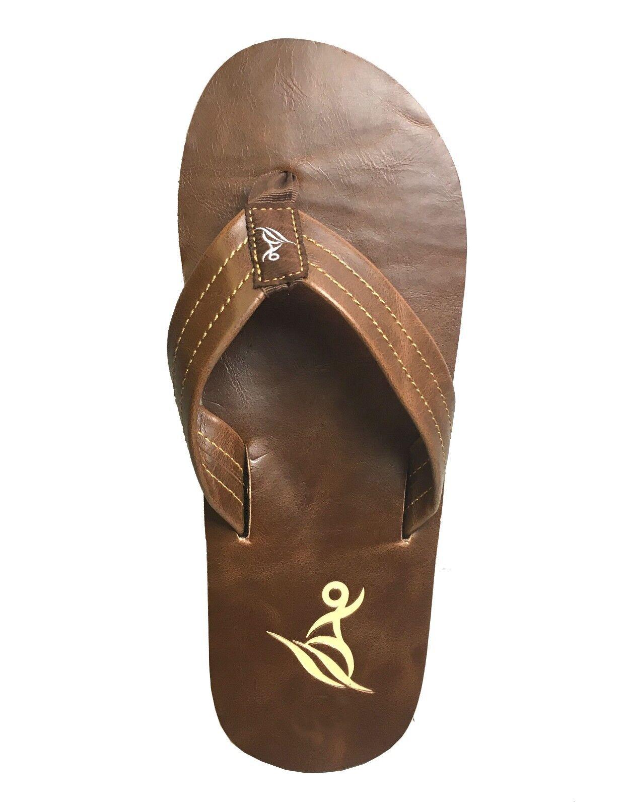 New MEN Stressed PU Sandals 7-13 Basic Flip Flop Size 7-13 Sandals Beach Gym.. ( 615 M ) c7830d