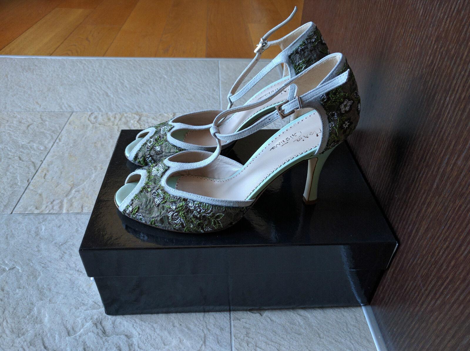 più preferenziale Scarpe decolté sandali donna Maria Cristina tango tacco tacco tacco 8 verde taglia 40 nuovi  qualità autentica