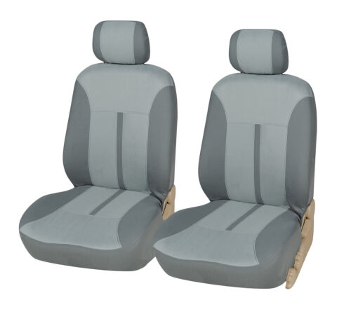 Car Seat Covers 2 Front Semi-Custom Fabric Compatible to Ford 861 Gray