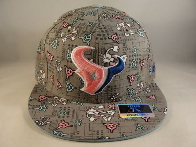 Buy NFL Houston Texans Reebok Size 7 1 8 Fitted Hat Cap Robots and  Asteroids online  1b90a6cc5fa