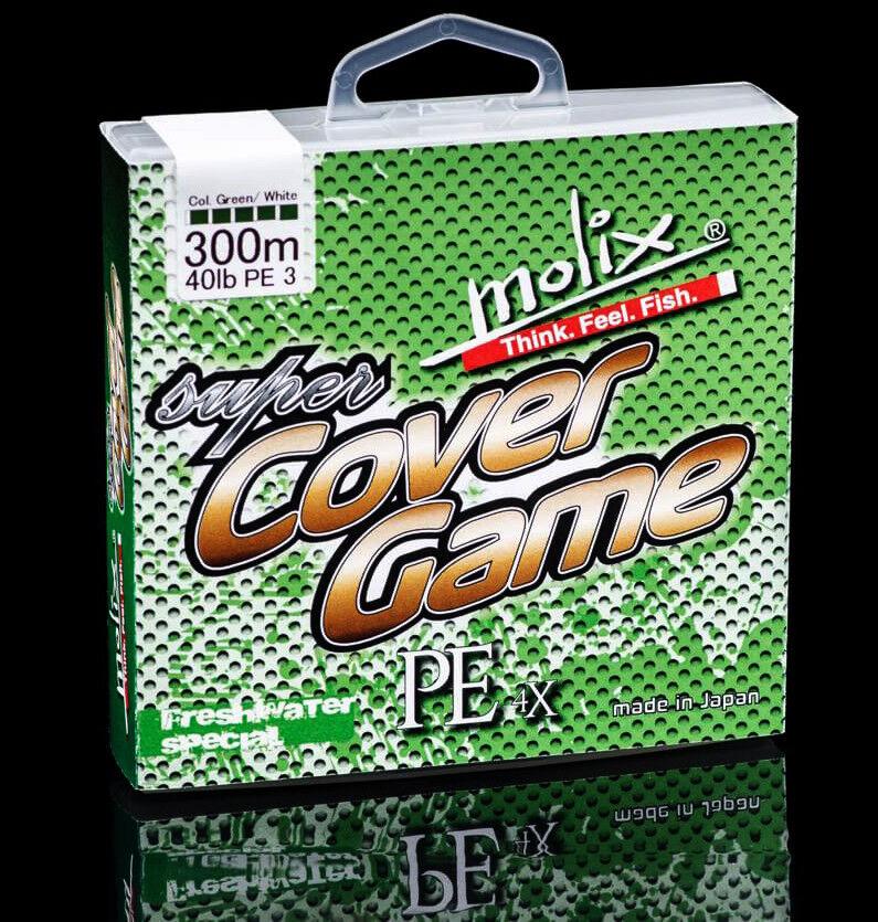 Molix Super Cover Game Trecciato 300 Mt Pesca Spinning Mimetico 4 Capi PP