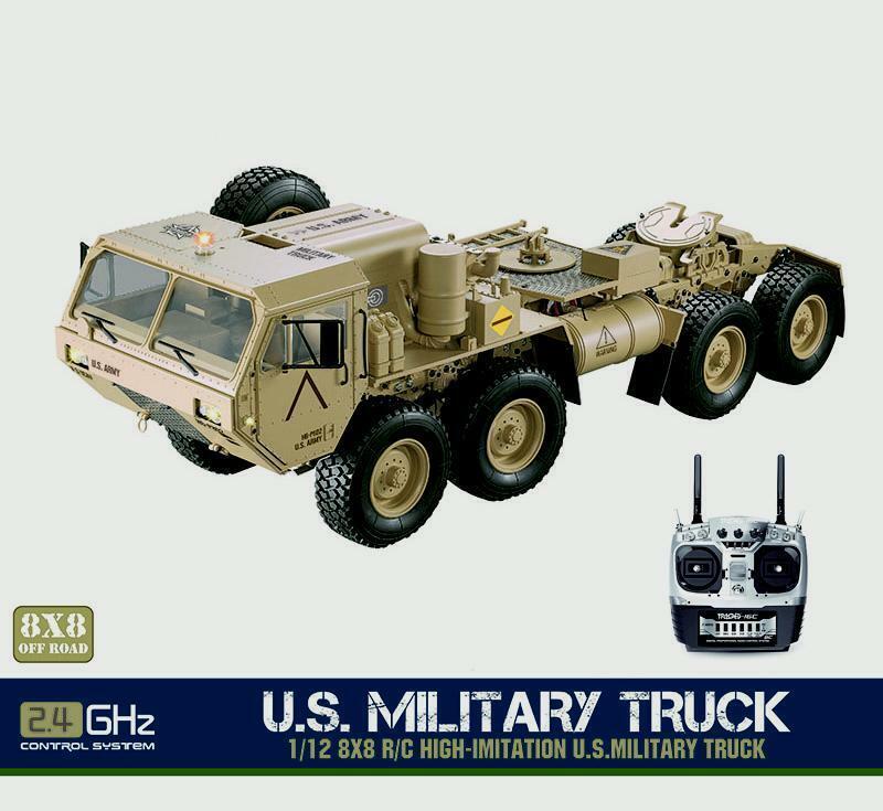 Hg 1 12 Rc Metal modelo de camión militar de Estados Unidos 88 chasis coche radio P802 con Servomotor
