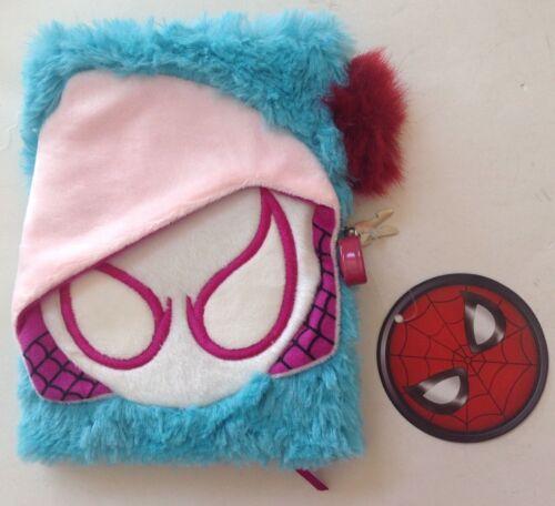 Marvel Spider-Man Fuzzy Journal with Lock /& Key
