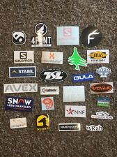 25 Ski Skiing Stickers Salomon Mountain Hardwear Grivel Kahtoola Patagonia Bula