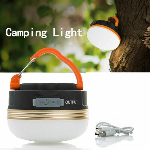 3 Modes Portable Camping Tent Rechargeable Lantern Emergency Outdoor LED Light