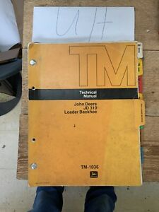 OEM-John-Deere-310-Loader-Backhoe-Shop-Service-Repair-Technical-Manual-TM1036