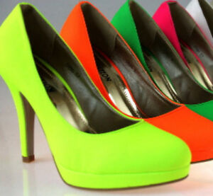 Luxury-Neon-034-Yellow-Pink-Green-Platform-Pumps-High-Heels-Red-Womens-Shoes-zh323n