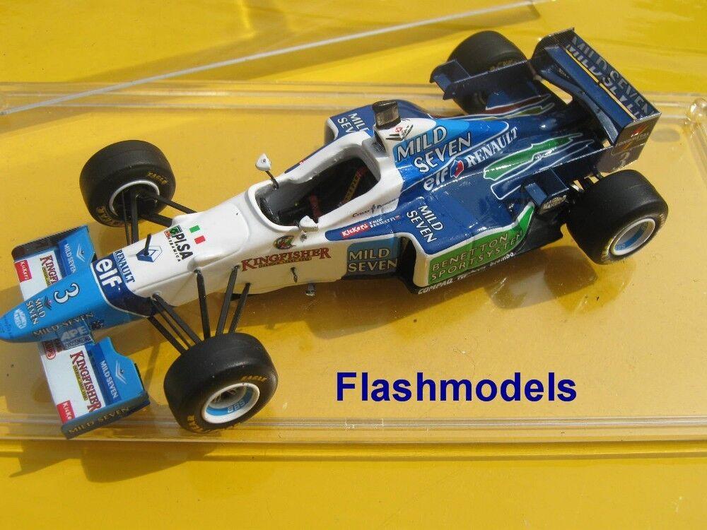 1 43 Benetton Renault b196 1996 J. ALESI argentoINE GP Tameo hebuilt modelloauto