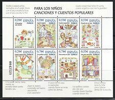 ESPAÑA 2005 4154 PARA LOS NIÑOS. CANCIONES Y CUENTOS POPULARES HB 8v.