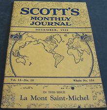 Scott's Monthly Journal December 1932 La Mont Saint-Michel + Scarce