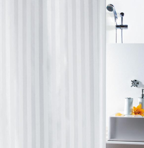 Spirella Magi White Satin Textil Duschvorhang 180 x 200 cm. Markenprodukt