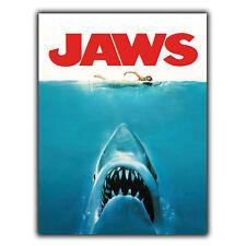 JAWS METAL SIGN WALL PLAQUE Retro Film Movie Advert poster print decor