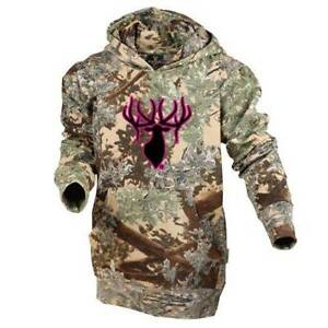King's Camo Kids Classic Hoodie Desert Shadow w/ Pink Black Logo Youth