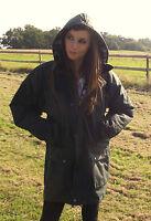 Wax Coat Padded Jacket British Olive Green Ladies 8 10 12 14 16 18 20 22 24