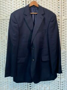 Austin Reed Black Suit Jacket Blazer Smart Business Modern Wool Button Up 44 R Ebay