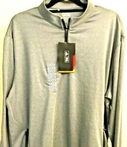 NEW w/ TAGS MEN'S XL ADIDAS CLIMALITE PULLOVER Gray 1/4 Zip Golf Jacket