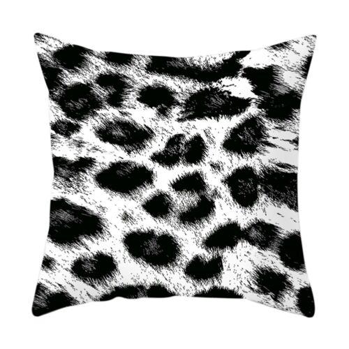 "18*18/"" Animal Leopard Zebra Sofa Throw Cushion Cover Pillow Case Geometric Print"