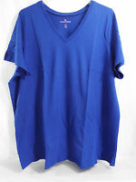 Women's Plus Size Perfect V Neck Shirt In Dark Royal Blue