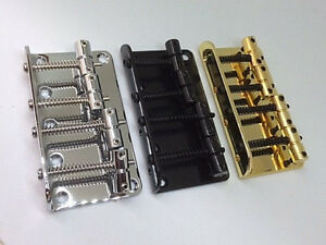 4-String-Vintage-Style-Bass-Bridge-for-Jazz-Bass-Top-Load-Chrome-Black-Gold