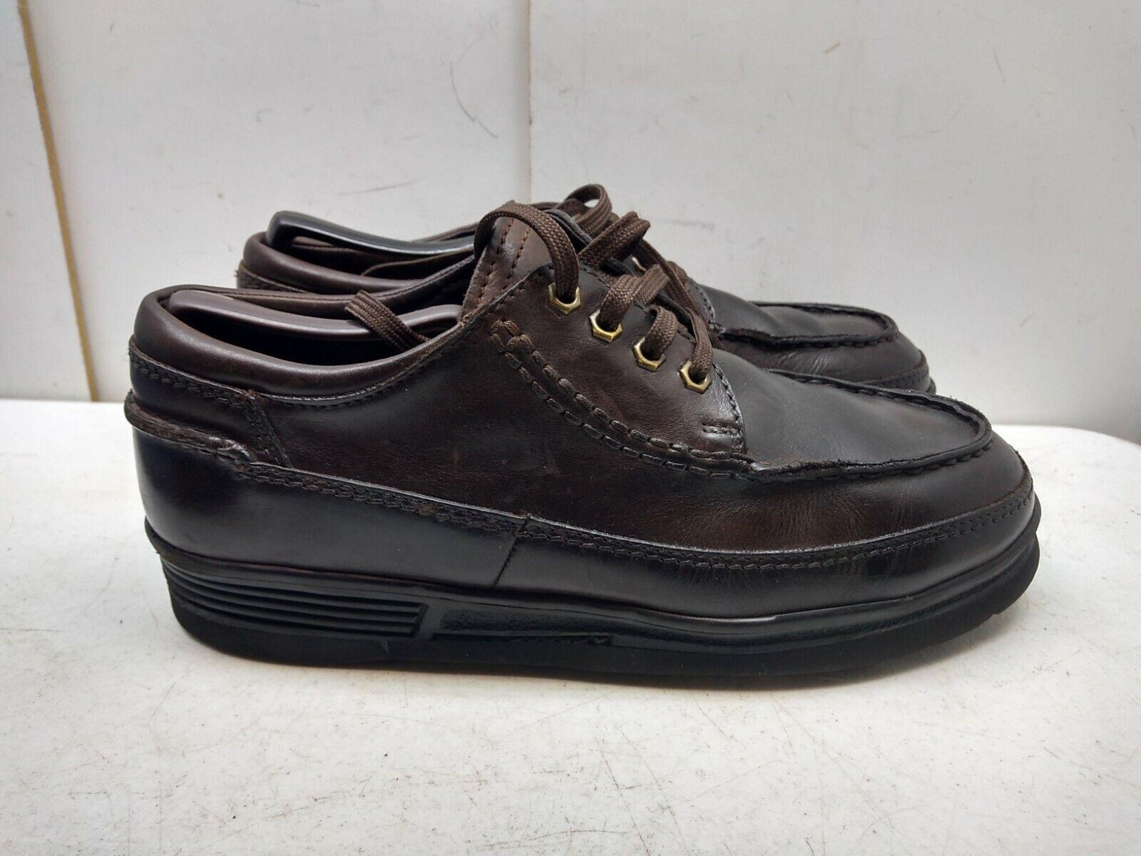 Dino Monti excursionistas Marrón Cuero Oxford con Cordones Comodidad Mocasín Zapato para Hombres 9M 42