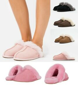 NEW-Authentic-UGG-Scuffette-II-Black-Chestnut-Pink-Women-039-s-Shoes-Slippers