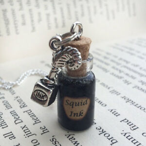 Squid Ink Bottle Necklace Decoration Inspired By Once Upon A Time Ebay