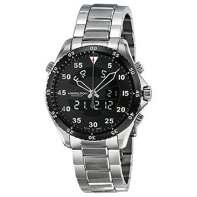 Hamilton Khaki Flight Timer Analog Digital Men Watch H64554131 JD5CJP