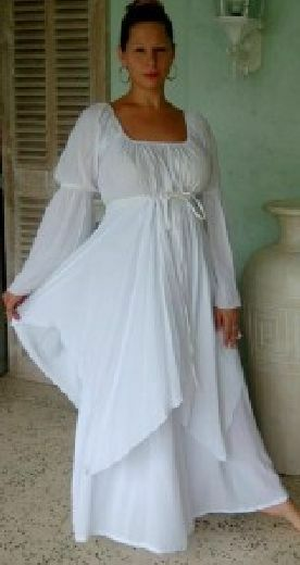 Weiß dress peasant layerot renaissance  M L XL 1X 2X 3X 4X ONE Größe PLUS Größe