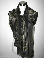 NWT 100% SILK ROBERTO CAVALLI ANIMAL PRINT 26X68 SCARF/SHAWL made in Italy