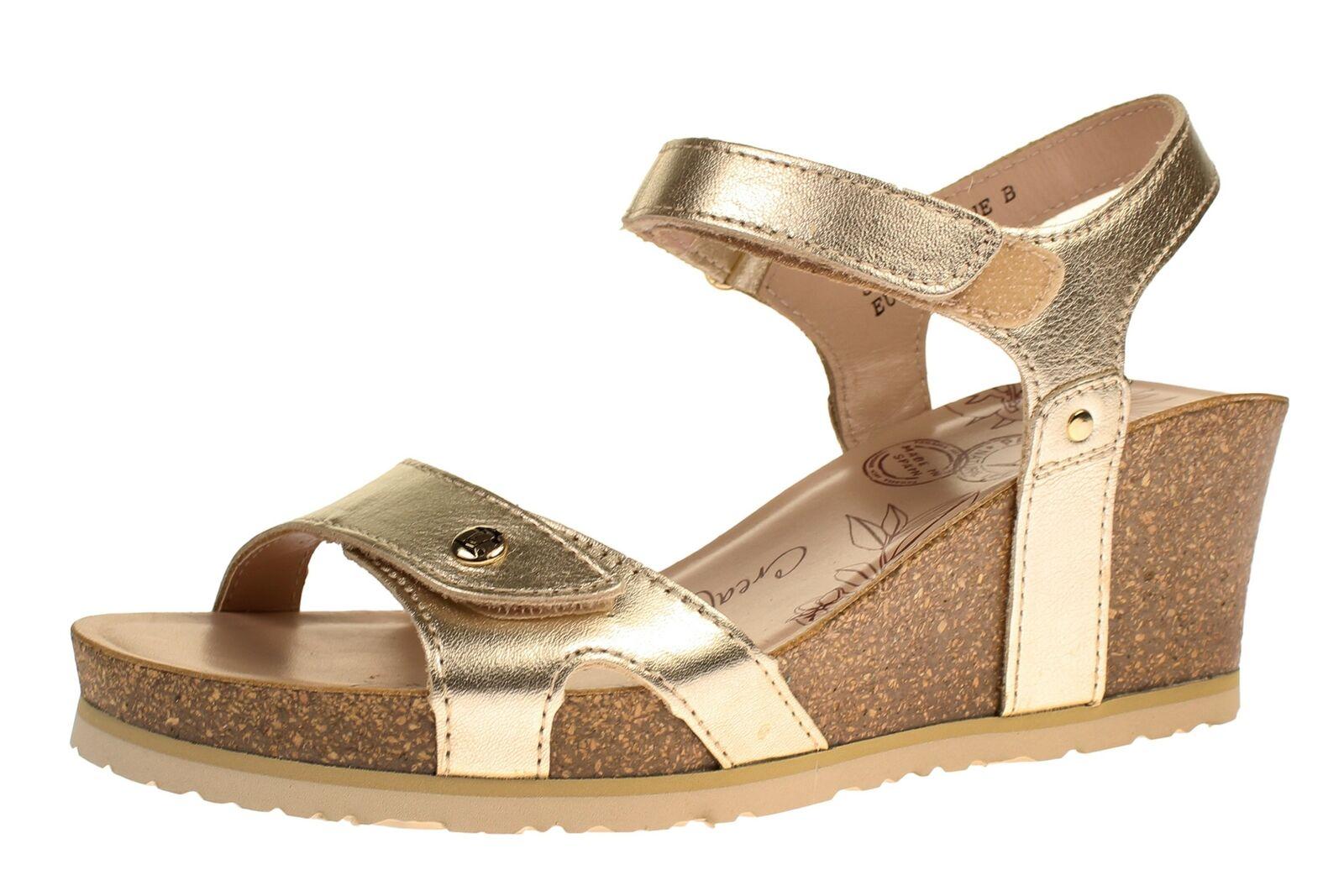 Panama Jack JULIA SHINE B3 NAPA - Damen Schuhe Sandaletten - Gold