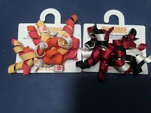 GYMBOREE BIRTHDAY SHOP MULTI COLOR CURLIES cupcake HAIR BARRETTES 2-CT NWT
