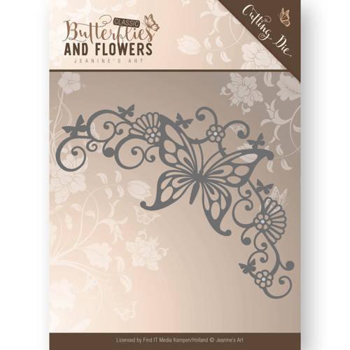 Jeanine/'s Art//JAD10023//Cutting//Butterflies and Flowers// Corner Frame Die
