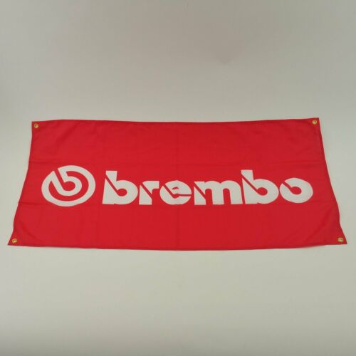 Brembo banner sign wall shop racing brakes calipers rotors ferrari bmw Type R V8