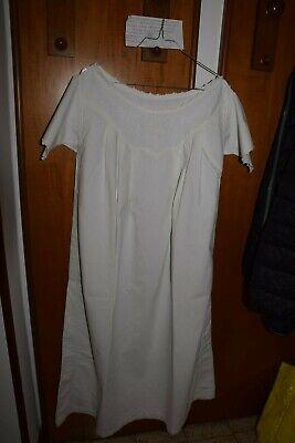 Camicia Da Notte Cotone Ricamata Cotton Nightgown Chemise De Nuit B11 (15) ^